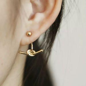 Gold Filled Sterling Knot Earrings